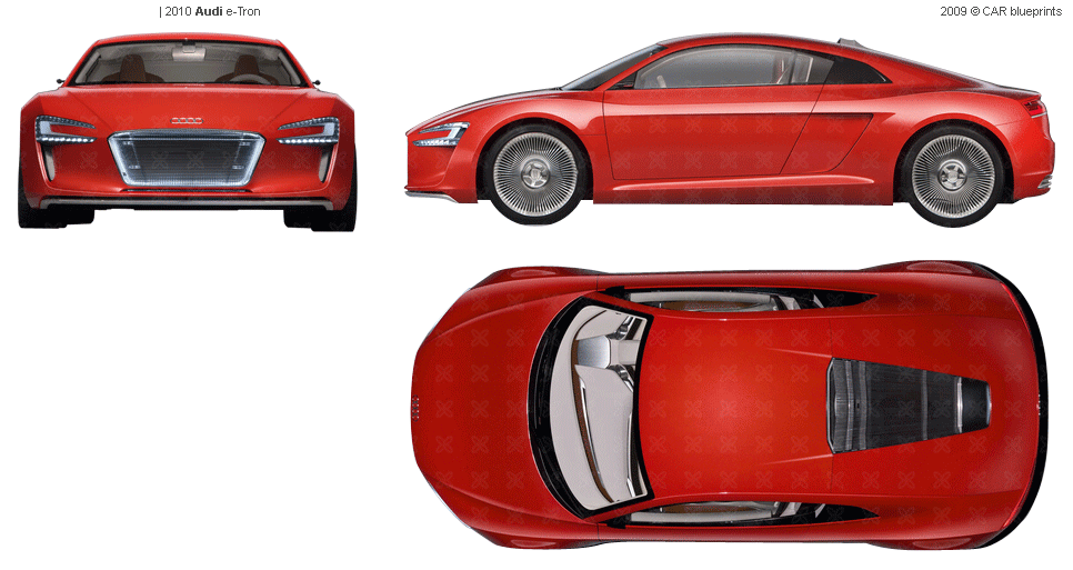 Car Blueprints Audi E Tron Electric Coupe Blueprint