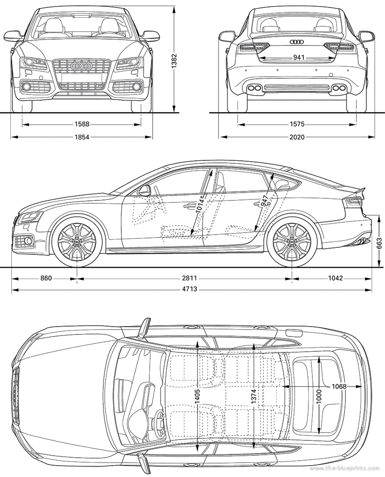 Car blueprints 2011 audi s5 sportback hatchback blueprint 2011 audi s5 sportback hatchback concept malvernweather