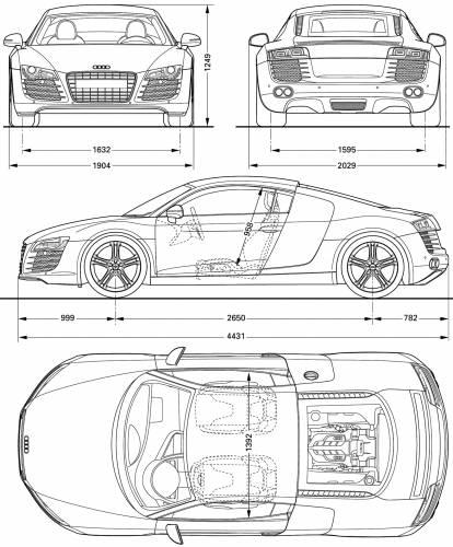2008 Audi R8 Coupe Blueprint
