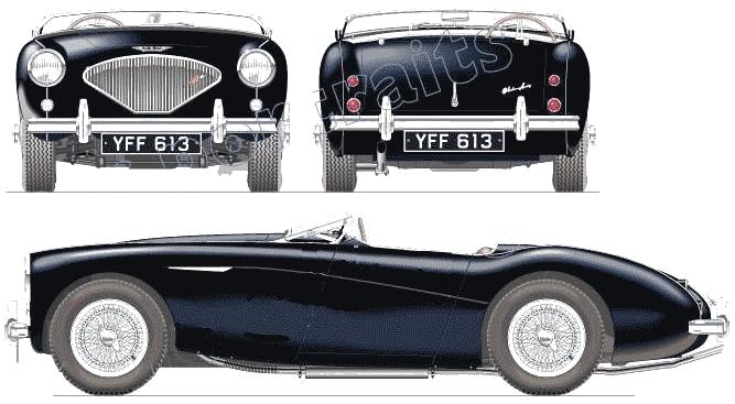 1955 Austin Healey 100-4 Roadster blueprint