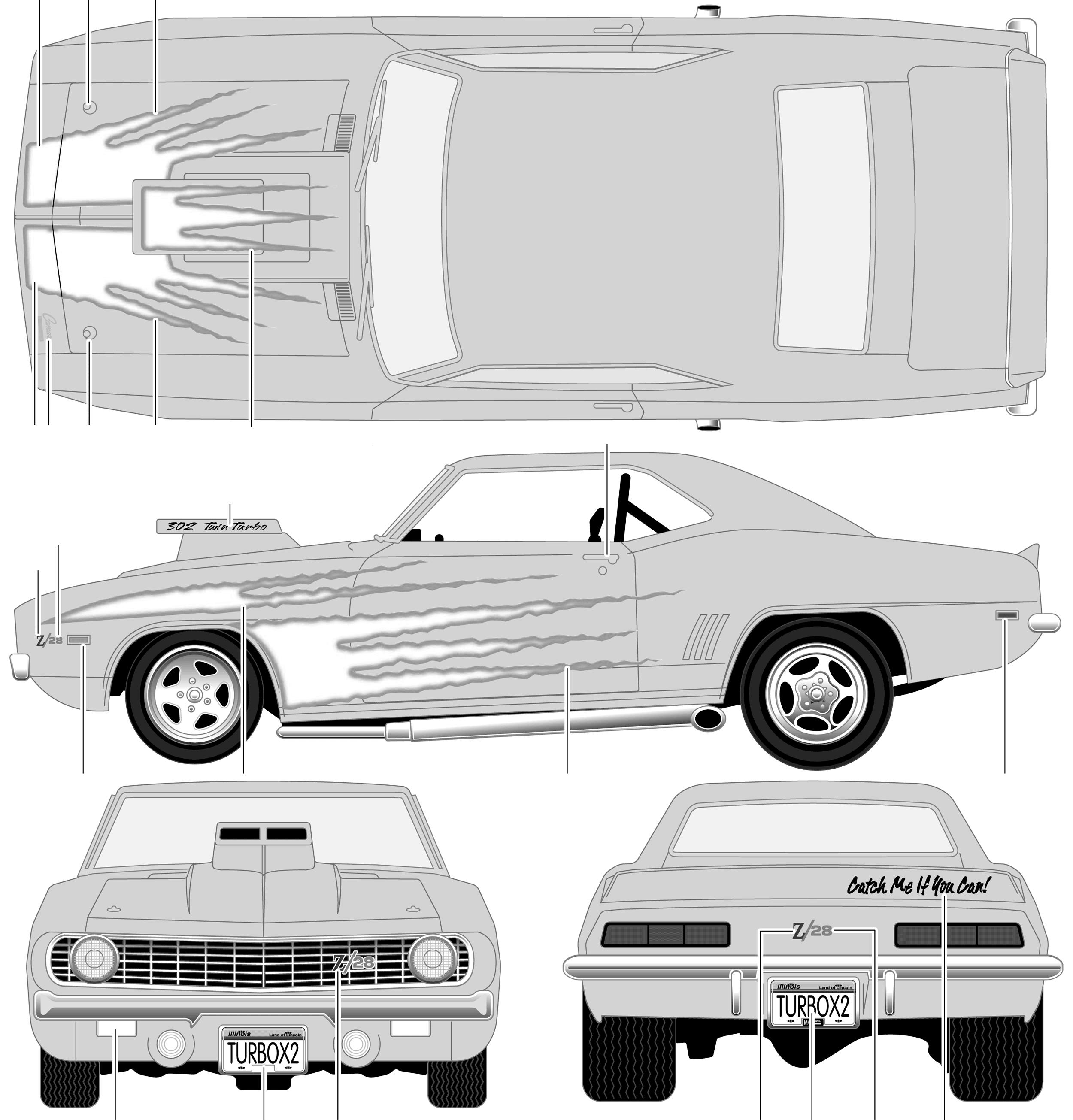 Car Blueprints Chevrolet Camaro Z 28 Motorworks