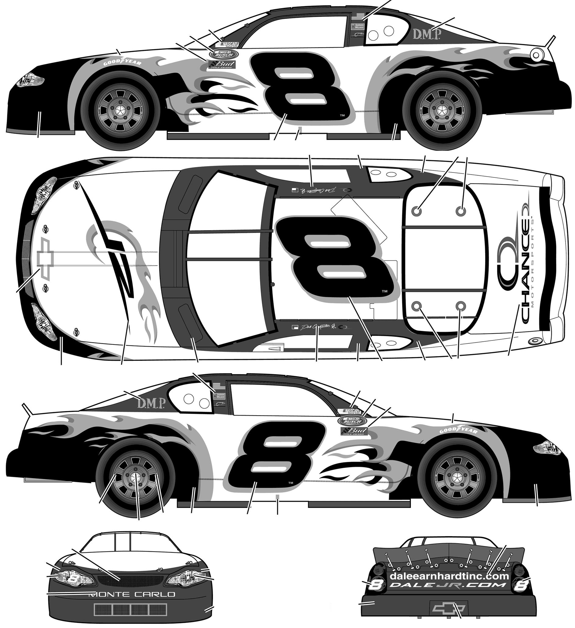 CAR blueprints Chevrolet Monte