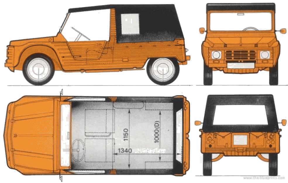 1980 Citroen Mehari Van blueprint