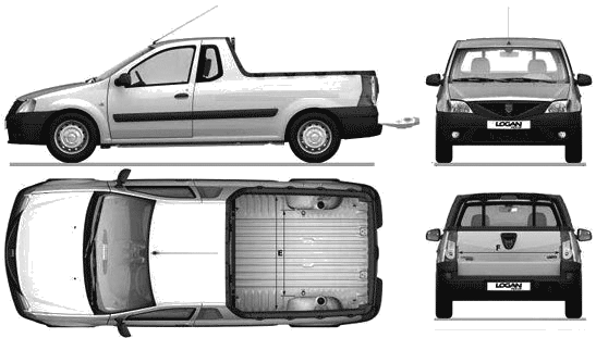 2008 Dacia Logan Pick-up blueprint