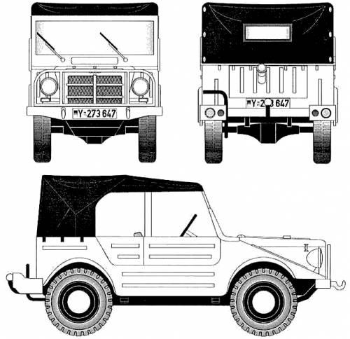 CAR blueprints - DKW Munga F91/6 blueprints, vector ...