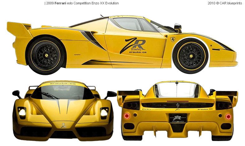 Car Blueprints 2009 Ferrari Edo Competition Enzo Xx