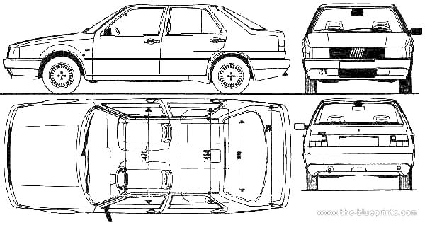 1985 Fiat Croma Sedan blueprint