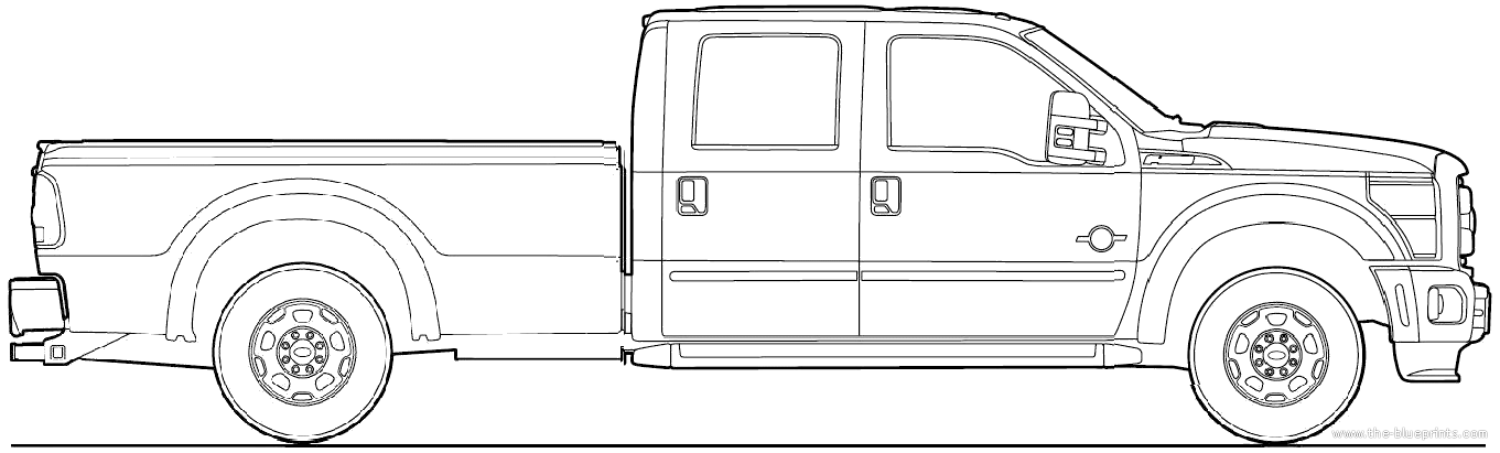 F250 Bumper Blueprints : Car blueprints ford super duty crew cab
