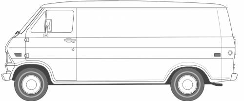 Car Blueprints 1969 Ford Econoline Van Blueprint