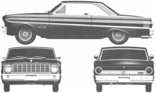 Car blueprints 1964 ford falcon sprint hardtop coupe blueprint 1964 ford falcon sprint hardtop coupe concept sciox Images