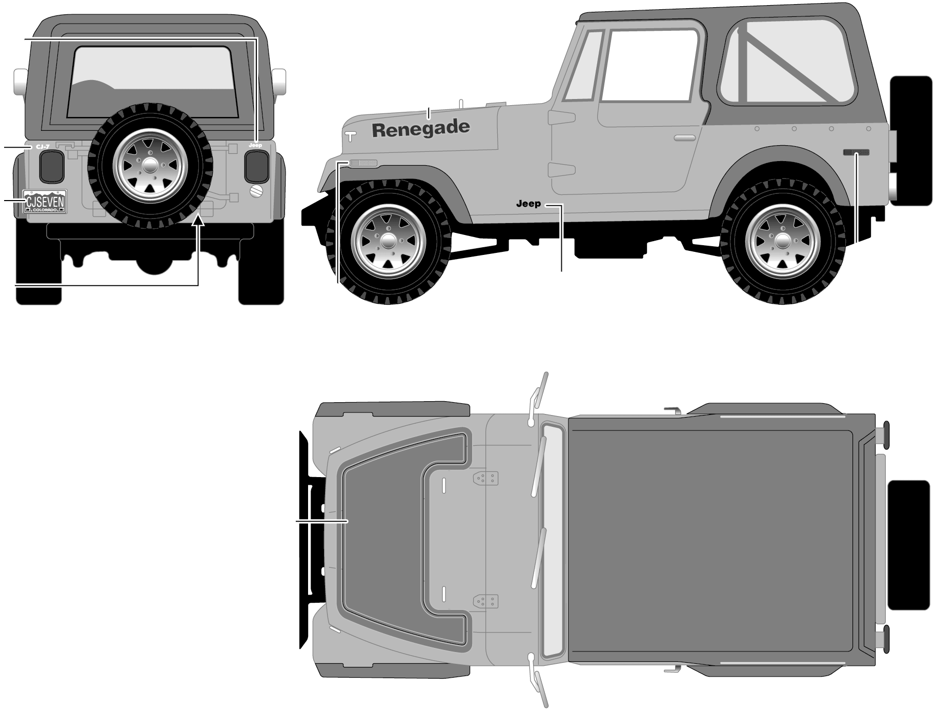 1977 Jeep CJ7 Renegade SUV