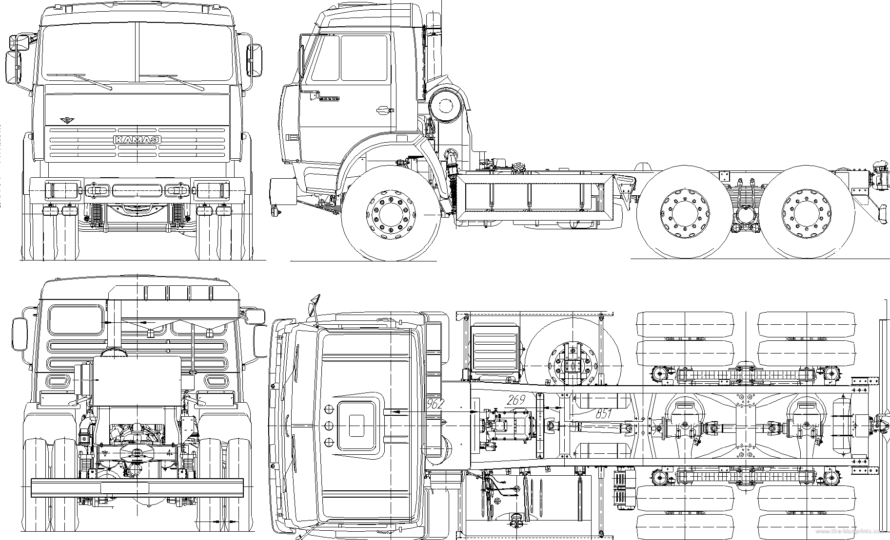 Truck blueprints 28 images car blueprints kamaz 53229 blueprints truck blueprints malvernweather Gallery