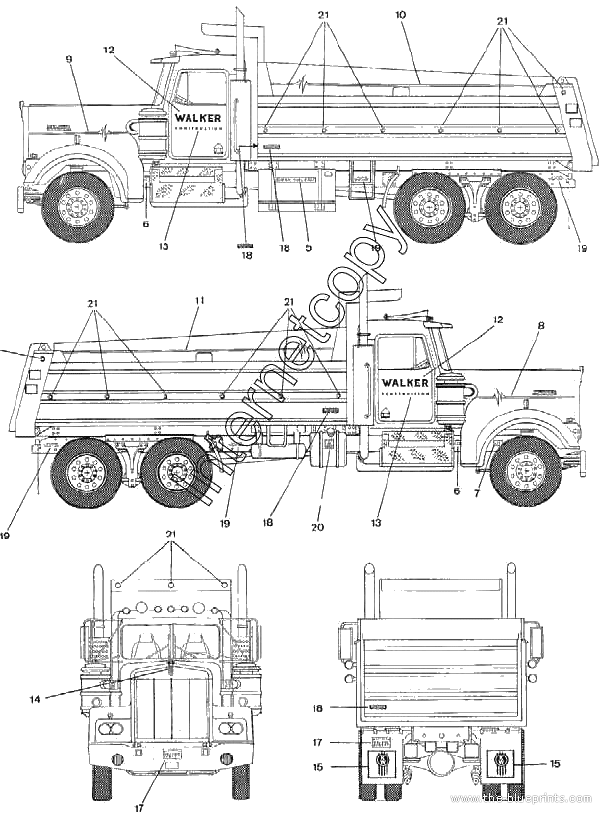 index of   blueprints  kenworth