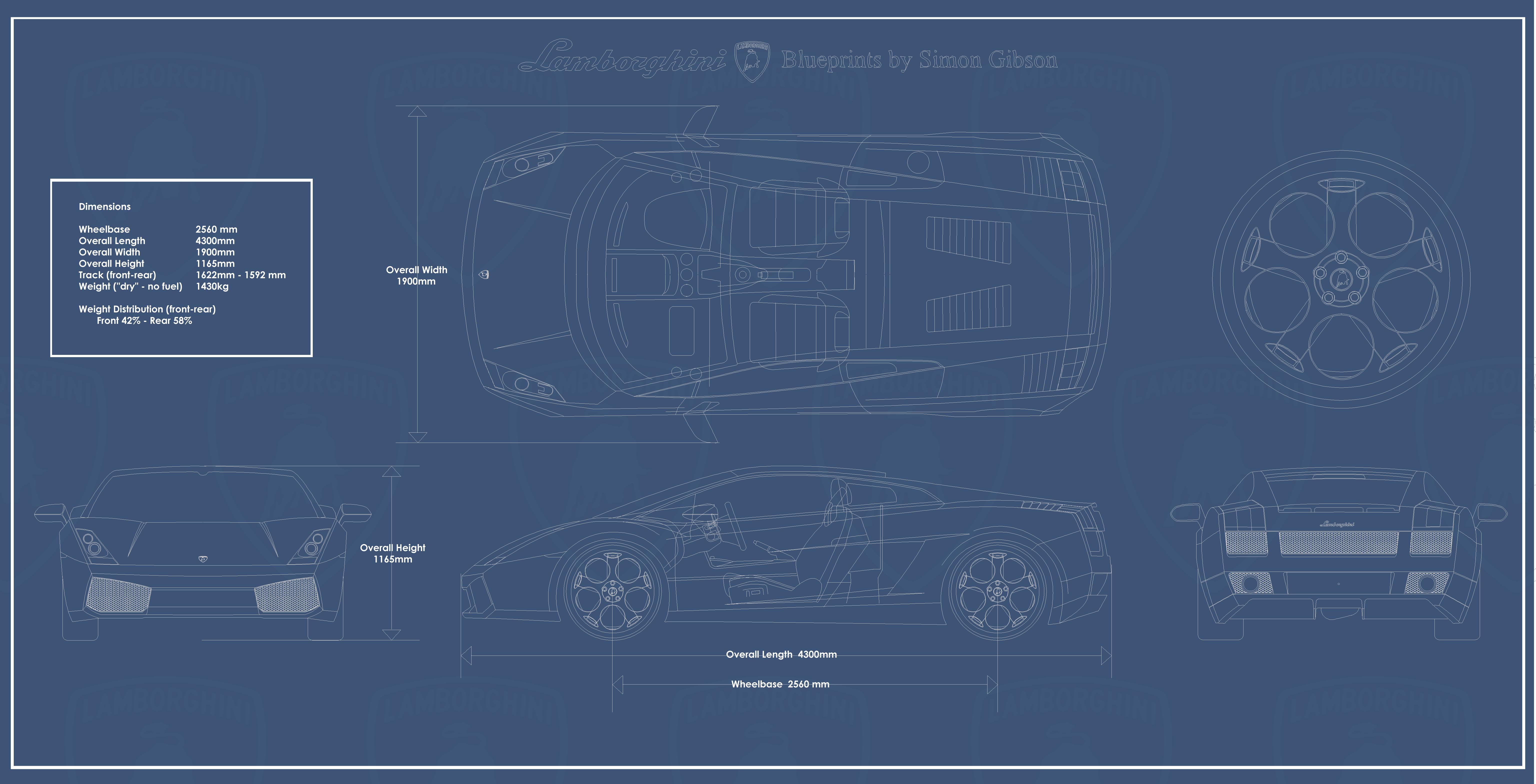 CAR blueprints - Lambo...