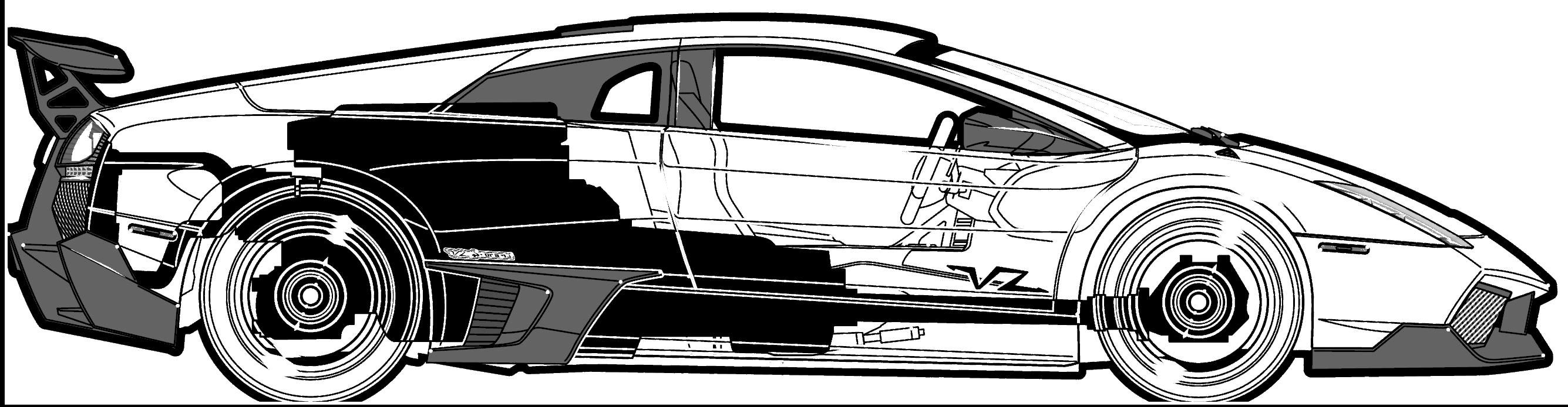 CAR blueprints - Lamborghini Murcielago LP670 Super Veloce ...