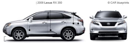 car blueprints lexus rx 350 blueprints vector drawings. Black Bedroom Furniture Sets. Home Design Ideas