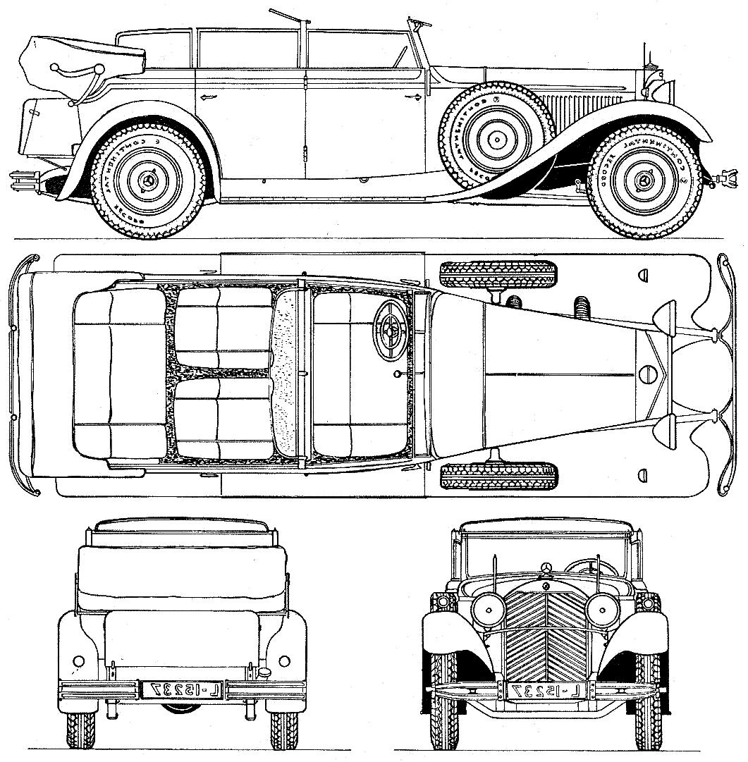 Mercedes benz mercedes benz 770 car and auto pictures all car blueprints 1930 mercedes benz 770 w07 landaulette cabriolet malvernweather Choice Image