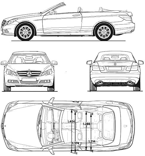 Car blueprints mercedes benz e class w212 blueprints for Mercedes benz e class dimensions
