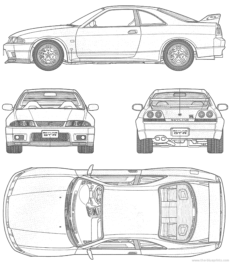 Nissan Skyline Drawing Outline on nissan skyline r32 wiring diagram