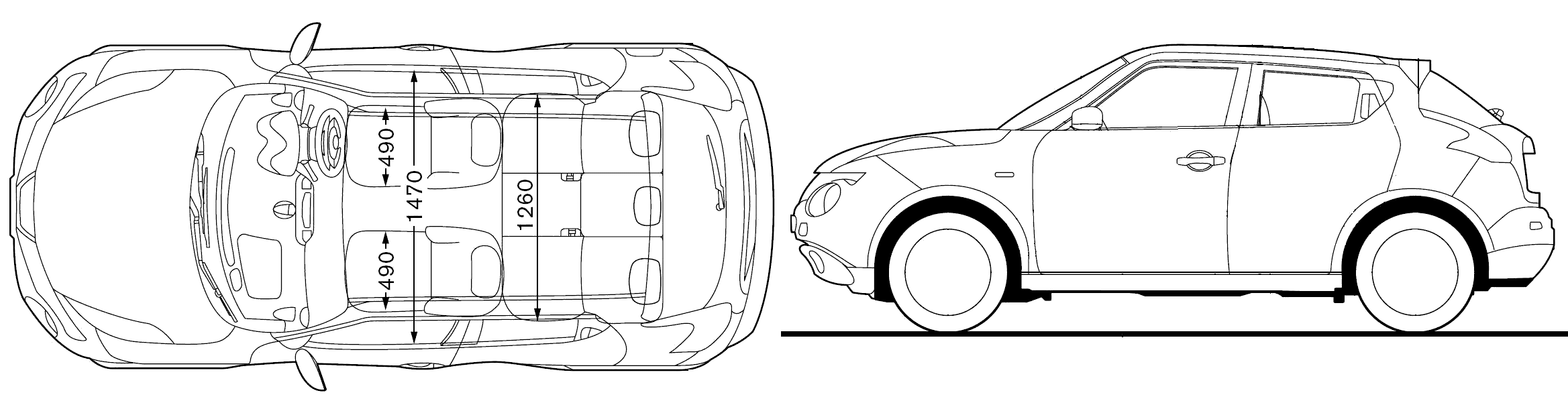 car blueprints nissan juke blueprints vector drawings clipart and pdf templates. Black Bedroom Furniture Sets. Home Design Ideas