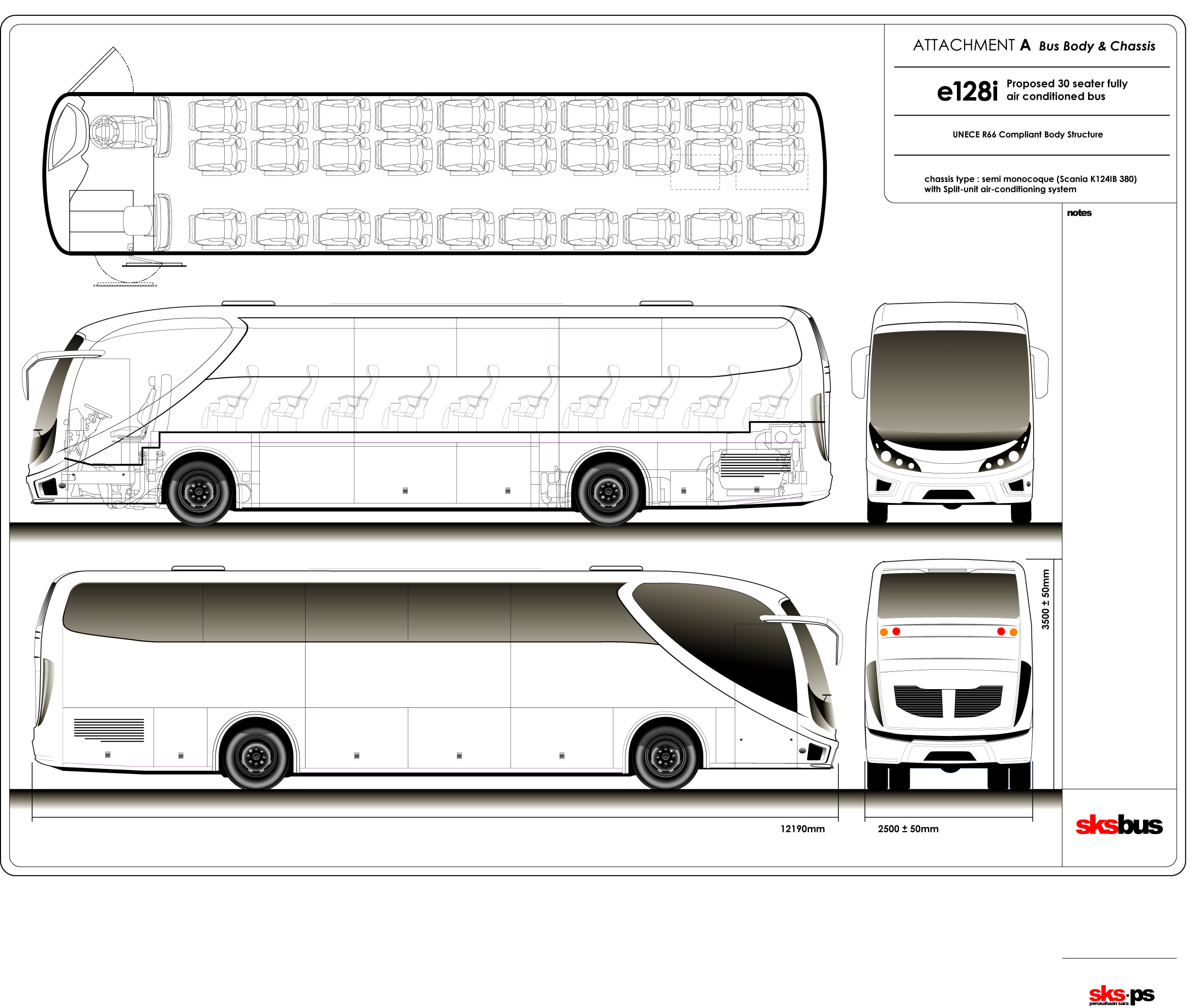 Car blueprints other e128i bus blueprint other e128i bus concept malvernweather Image collections