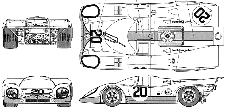 Car blueprints 1970 porsche 917k le mans coupe blueprint 1970 porsche 917k le mans coupe concept malvernweather Image collections