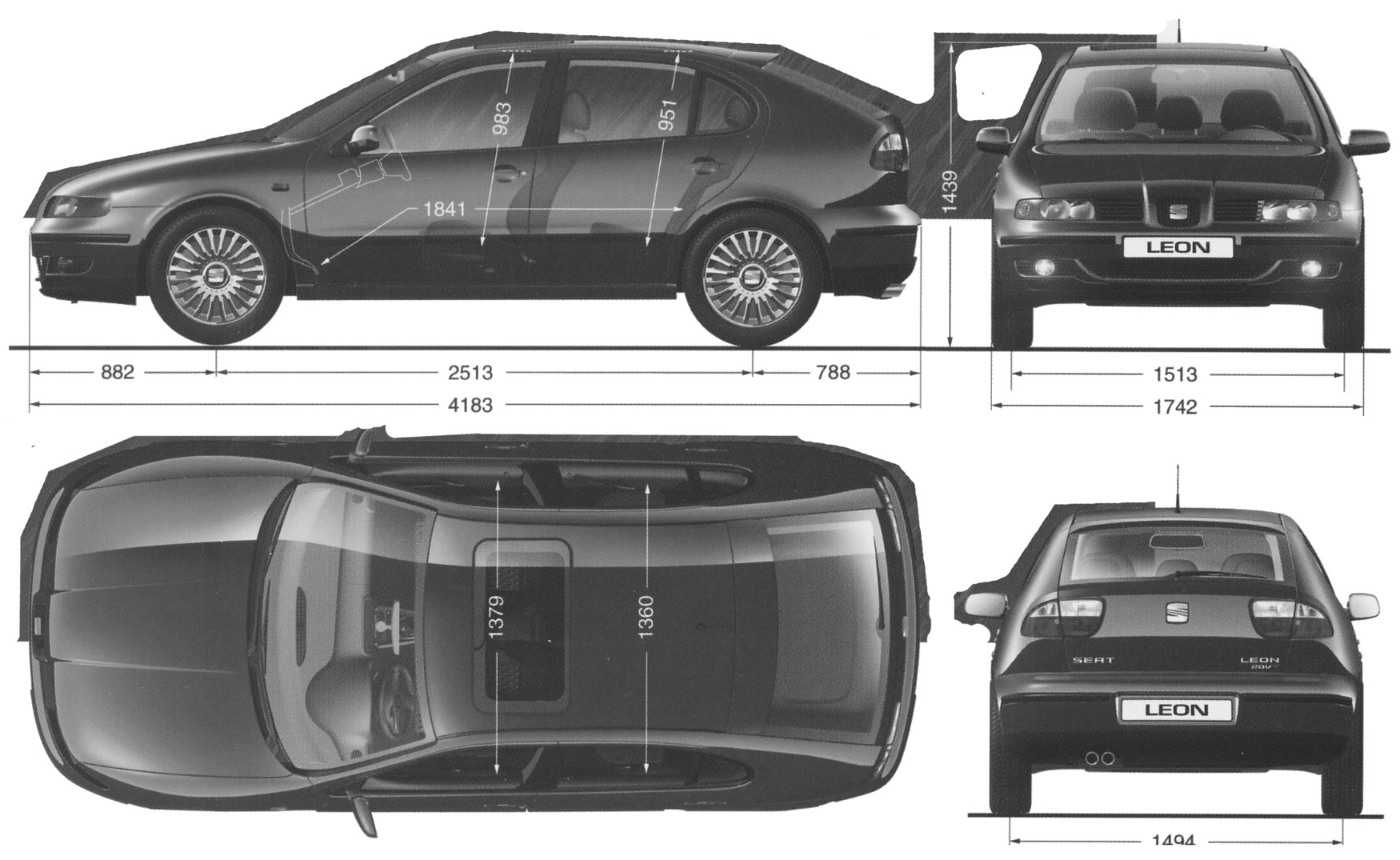 car blueprints 2000 seat leon hatchback blueprint. Black Bedroom Furniture Sets. Home Design Ideas