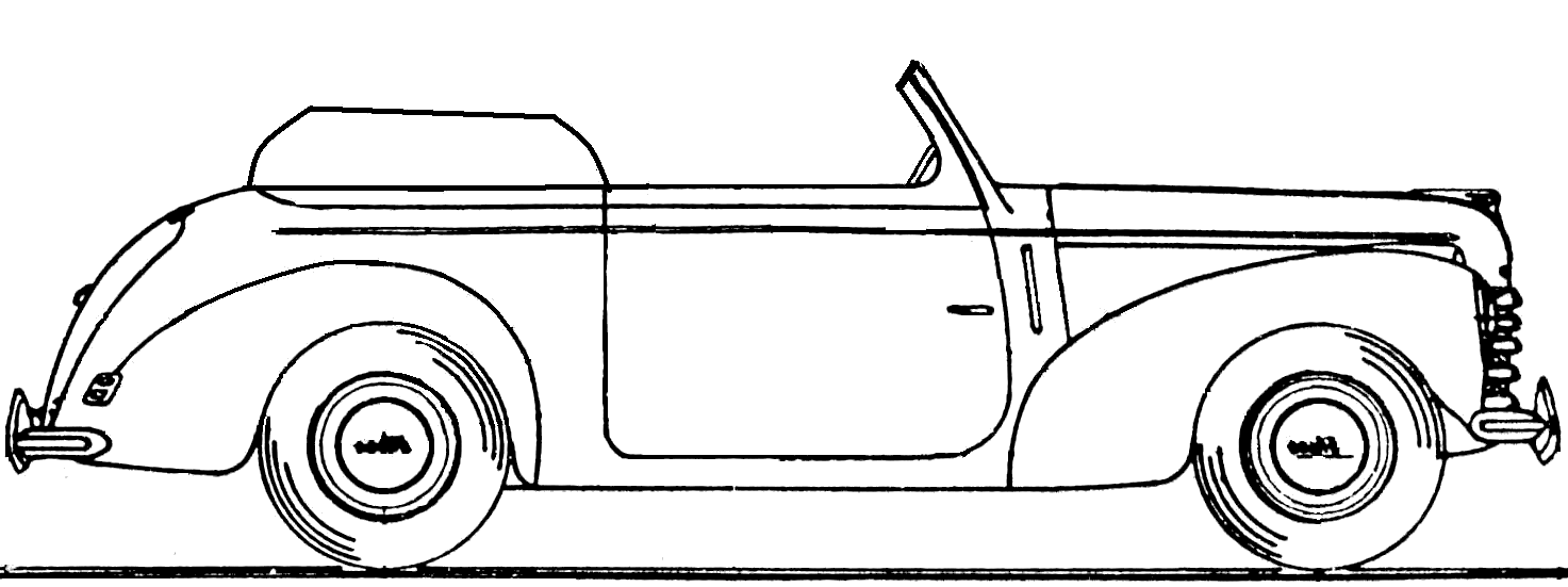 чертежи skoda 952 cabrio