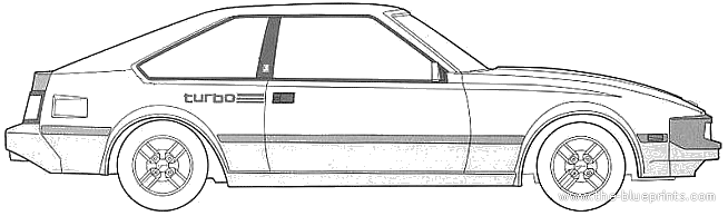1983 Toyota Celica A60 XX Turbo Coupe blueprint