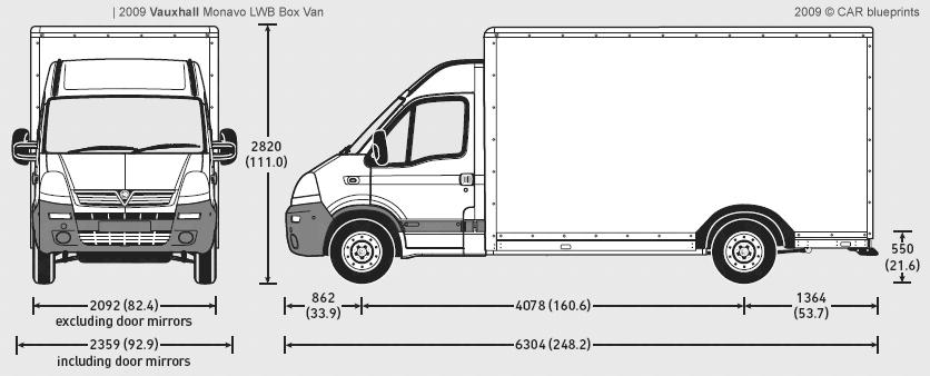 car blueprints vauxhall movano lwb box blueprints vector drawings clipart and pdf templates. Black Bedroom Furniture Sets. Home Design Ideas