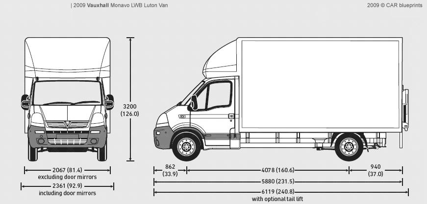 Mercedes Sprinter Luton Box Van Dimensions