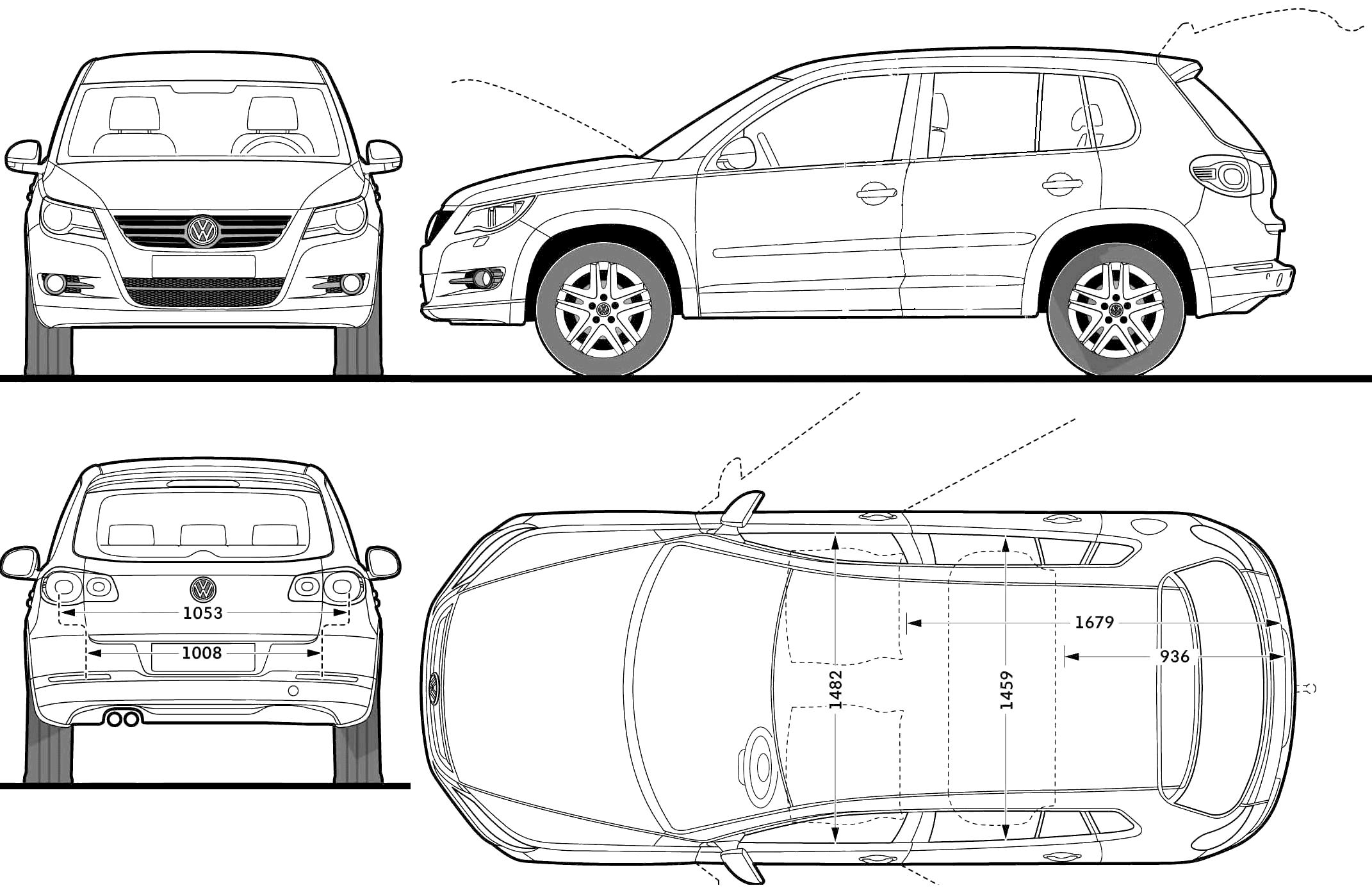 Volkswagen Tiguan Trend 2008 on 2016 Kia Sportage Suv
