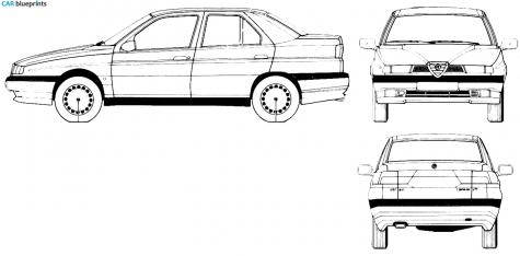 2.5 V6 (167.A1) (165 Hp) Alfa-romeo-155