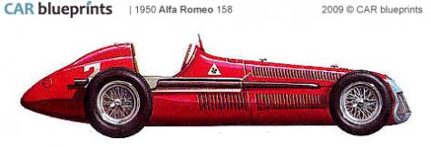 car blueprints alfa romeo 158 f1 blueprints vector drawings clipart and pdf templates. Black Bedroom Furniture Sets. Home Design Ideas