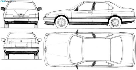 3.0 V6 (164.H1A,164.H1B,164.K1 (180 Hp) Alfa-romeo-164-02