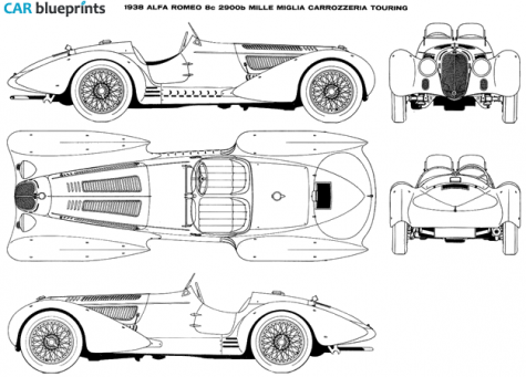 Microsoft Visio Electrical furthermore Car Blueprints also Home Made Rc Car further Alfa Romeo 8c 2900b Mille Miglia Carrozeria Touring additionally 469569. on alfa romeo blueprints