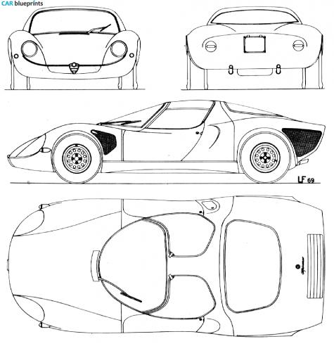 Car blueprints alfa romeo tipo 33 stradale blueprints vector 1976 alfa romeo tipo 33 stradale coupe blueprint malvernweather Gallery