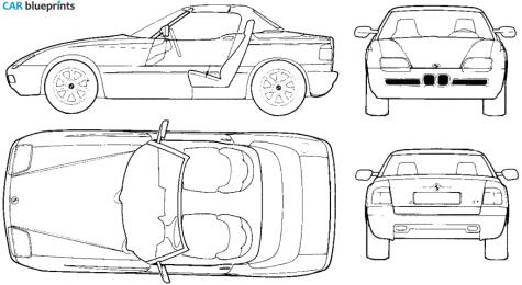 car blueprints bmw z1 e30 blueprints vector drawings. Black Bedroom Furniture Sets. Home Design Ideas