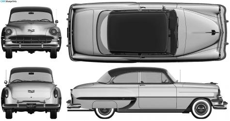 Car blueprints chevrolet bel air 2 door blueprints vector 1954 chevrolet bel air 2 door sedan blueprint malvernweather Choice Image