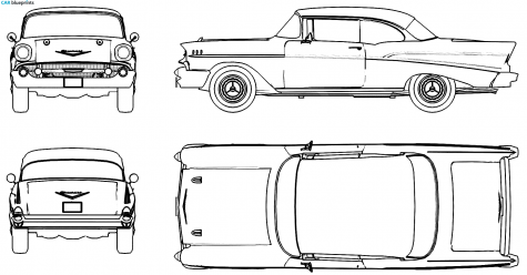 Car Blueprints Chevrolet Bel Air Blueprints Vector