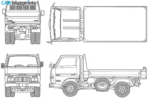 Daihatsu Delta 2t Dump Truck
