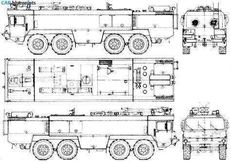 Car blueprints faun fl 4030x2 48v 8x8 flugfeld fire for Florida blueprint