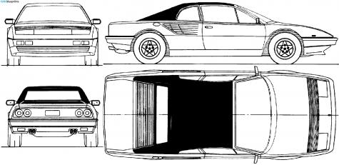 car blueprints ferrari mondial blueprints vector drawings clipart and pdf. Black Bedroom Furniture Sets. Home Design Ideas