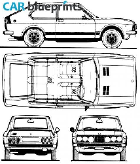 car blueprints 1977 fiat 128 rally coupe blueprint