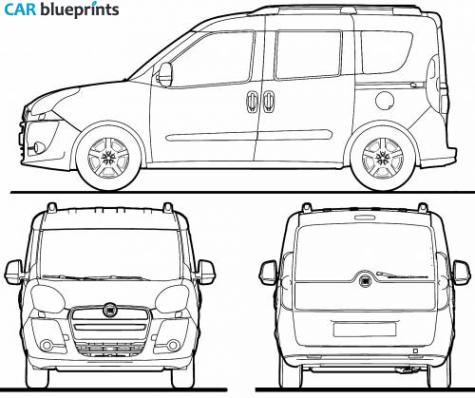 car blueprints fiat doblo blueprints vector drawings clipart and pdf templates. Black Bedroom Furniture Sets. Home Design Ideas