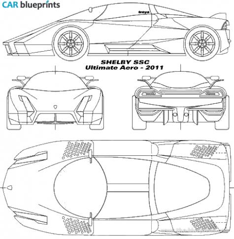 Car Blueprints Ford Shelby Ssc Ultimate Aero Blueprints Vector