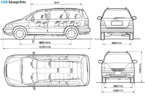 Car Blueprints Honda Odyssey Blueprints Vector Drawings