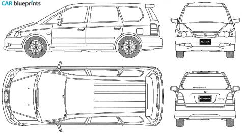 Car blueprints honda odyssey blueprints vector drawings for Honda odyssey height