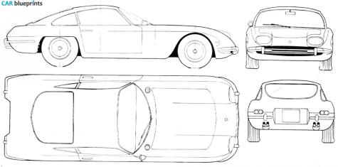 Car blueprints lamborghini 350 gt blueprints vector drawings 1964 lamborghini 350 gt coupe blueprint malvernweather Images