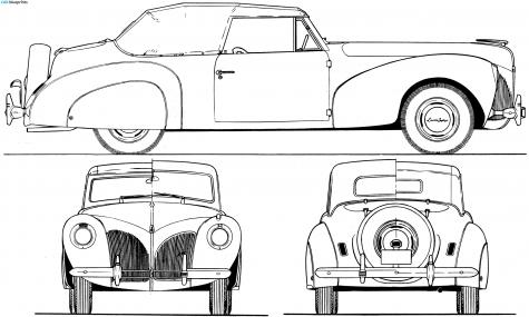 car blueprints lincoln zephyr continental v12 convertible blueprints vecto. Black Bedroom Furniture Sets. Home Design Ideas